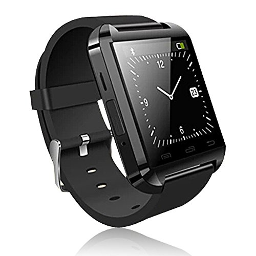 Soyan® 2015 New U Watch Bluetooth Smartwatch WristWatch Phone Touch Screen Mate For Android (Full functions)(Black)