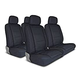 UNIVERSAL CAR SEAT COVER FOR MIDSIZE AND COMPACT CARS FULL SET - BLACK