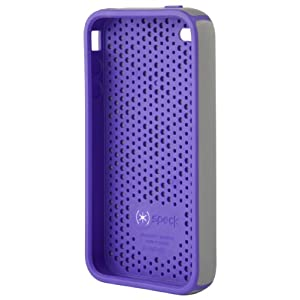 Speck Products CandyShell Case for iPhone 4 (Light Gray/Lavender)