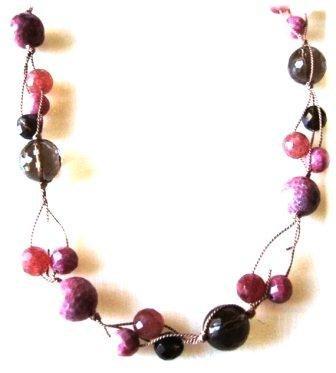 Smoky quartz, rhodonite and rose quartz 24