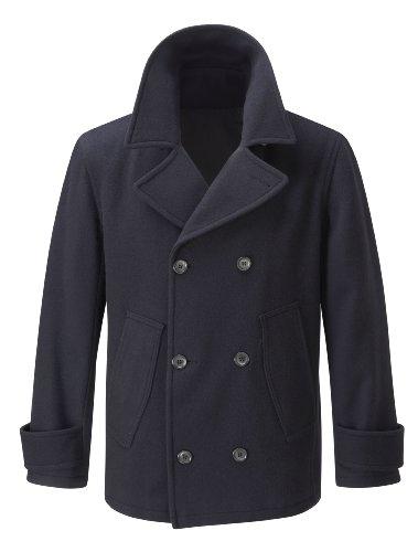 Mens Pea Coat -- Dark Blue -- M