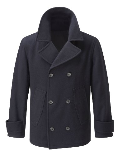 Mens Pea Coat -- Dark Blue -- XL