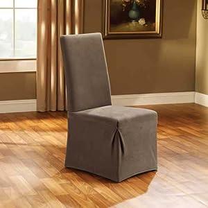 Amazon.com - Sure Fit Stretch Pique Dining Room Chair Slipcover, Taupe - Dining Room Chair Slipcovers