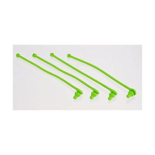 Traxxas 5753 Body Clip Retainer, Green Spartan, Set of 4
