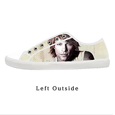 Amazon.com: Custom Jon Bon Jovi Men's Canvas Shoes US12 Fashion Shoes