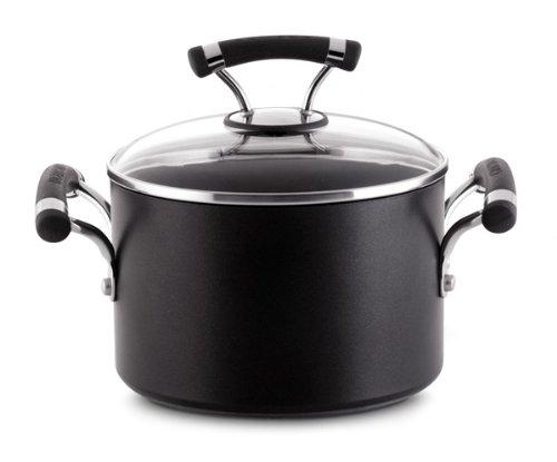 Circulon Contempo Hard Anodized Nonstick 3-Quart Covered Saucepot