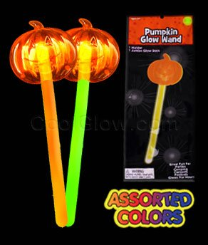 Fun Central X551 Glow in the Dark Pumpkin Wand - Assorted - 1