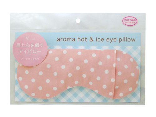 Aroma of Hot and Ice Eye Pillow Fresh Peach (Pink)