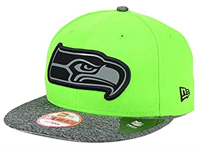 Seattle Seahawks New Era Snapback One Size On-Field Gridiron Collection Hat NFL Authentic Cap OSFA Snap Back - Lime Green / Gray