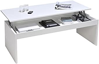 Weber Industries 02639 Contemporain Darwin Table Basse Blanc 120 x 42,5 x 60 cm
