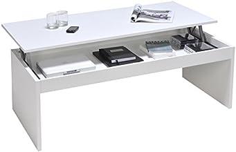Weber Industries 02639 Contemporain Darwin Table Basse Blanc 120 x 42,5 x 60 cm
