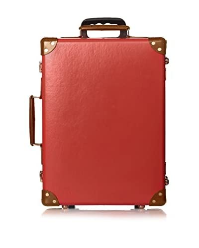 Globe-Trotter 18″ Trolley Case, Red/Tan