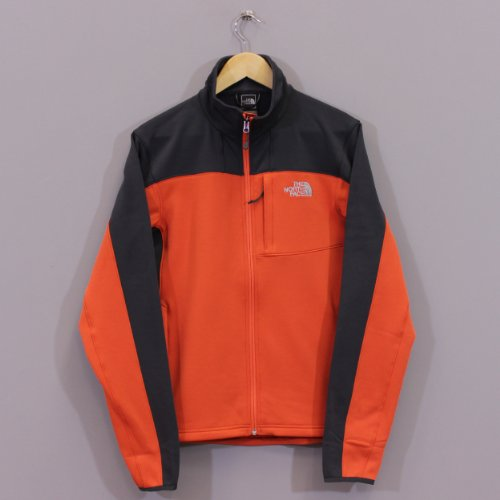 The North Face Mens Momentum Jacket - Zion Orange and Asphalt Grey XL