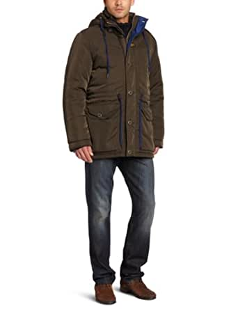 G-Star Raw Men's Hawker Hooded Parka Jacket, Arsenic, X-Large