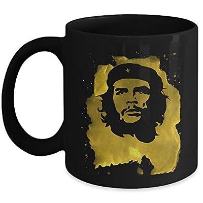 Che Guevara Coffee Mug Cup - Grunge Gold