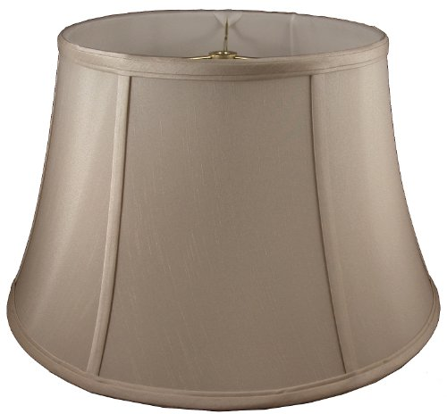 American Pride Lampshade Co. 74-78090418 Round Soft Tailored Lampshade, Shantung, Croissant