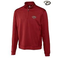 Arizona Diamondbacks Mens DryTec Edge Half Zip Jacket Cardinal Red by Cutter & Buck