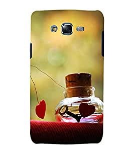 printtech Love Heart Key Design Back Case Cover for Samsung Galaxy Quattro i8552 / Samsung Galaxy Quattro Win i8552