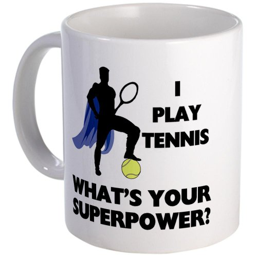 Tennis Superpower Mug Mug By Cafepress