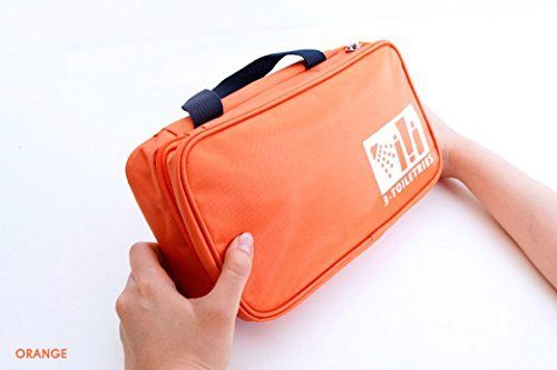 Onor Tech Portable Multi Functional Travel Organizer Cosmetic Make Up Bag Luggage Storage Case Pouch (Orange)