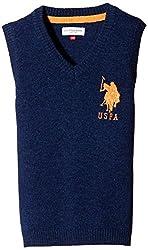 US Polo Association Boys' Sweater (UJSW5183_Navy_M)