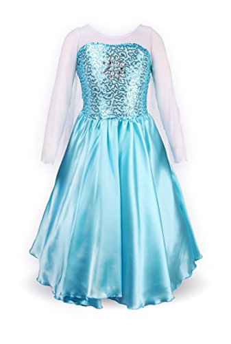 Girls Princess Elsa Fancy Dress Costume