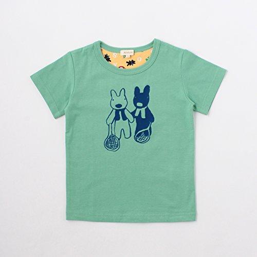 (ハッシュアッシュ)HusHusH プリントTシャツ(リサとガスパール) グリーン(022) 10(100cm)