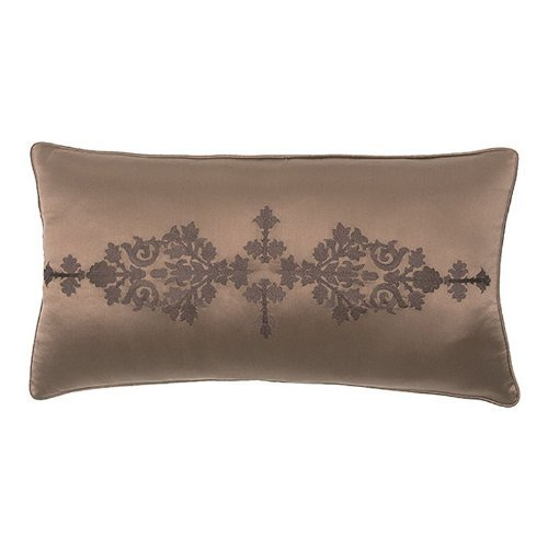 Modern Living Pearse Embroidered Satin Pillow, 12 By 22-Inch front-392769