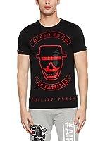 Philipp Plein Camiseta Manga Corta (Negro / Rojo)