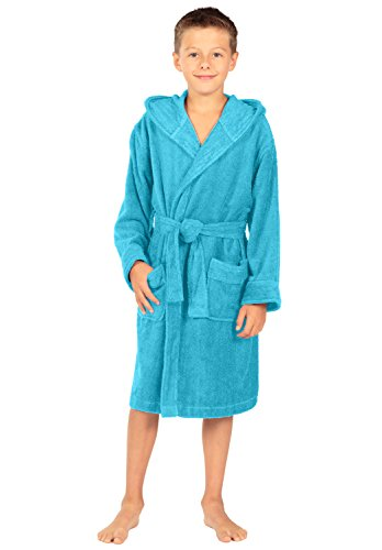 Kid s Hooded Terry Cloth Bathrobe - Splash (Blue Splash 231b45a96