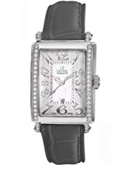 Gevril Women's 7249NE.7A White Mother-of-Pearl Genuine Alligator Strap Watch