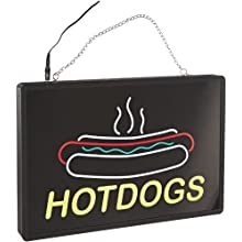 "Benchmark 92002 Ultra-Bright Sign, Hotdogs, 20"" Length x 13"" Width x 1-1/4"" Height"