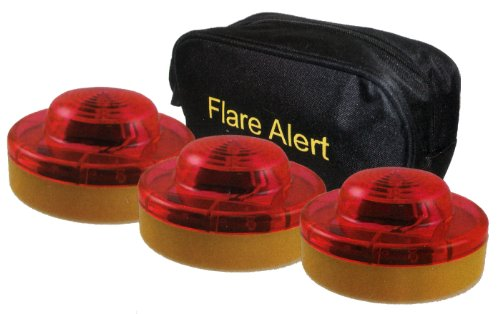 3 FlareAlert LED Emergency Beacon Flares with Storage Bag