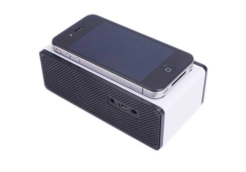 Ecsem® Portable Near Field Mini Wireless Magic Iphone Speakers Mutual Electromagnetic Induction Amplifier Speakers For Iphone 5 4S Htc Samsung And All Other Phones & Digital Media Device, Built-In Lithium Polymer Battery Gives Up To 30 Hours Of Play Time