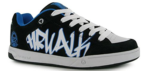 junior-boys-lace-up-outlaw-skate-style-shoes-footwear-5-38-black-wht-blue