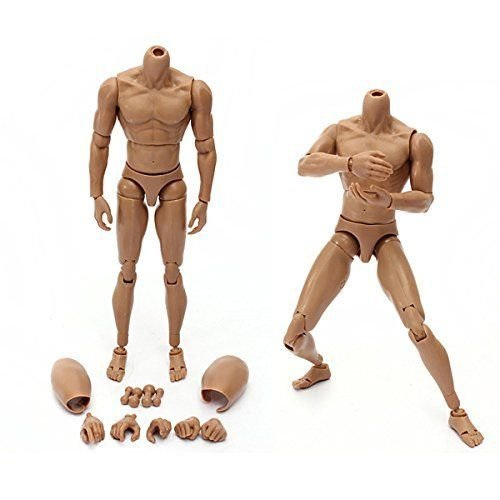1:6 Scale Adjustable Action Figure Male Nude Muscle Muscular Body Fit