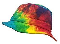 Colortone Bucket Hats Adult Reactive Rainbow