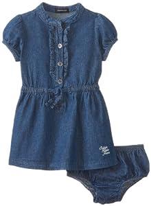 Calvin Klein Baby-Girls Infant Chambray Dress by Calvin Klein