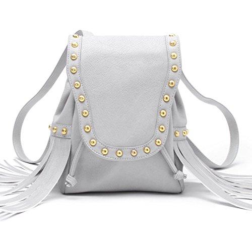 Fashion fringe rivet sac à dos/Sac à dos de fille étudiante