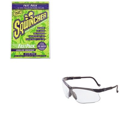 Kitsqw015308Lluvxs3200X - Value Kit - Sqwincher Corp Fast Pack Drink Package (Sqw015308Ll) And Uvex Genesis Safety Eyewear (Uvxs3200X)