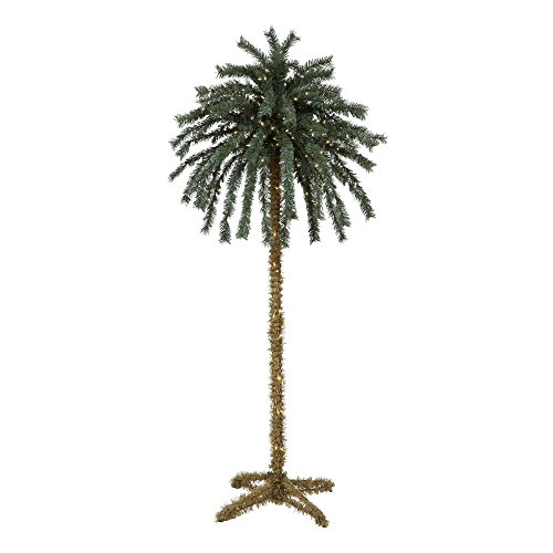 Palm Tree Pre-strung with 300   lights, 7' tall, Outdoor / Indoor
