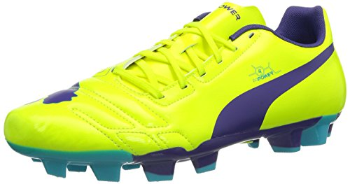 Puma evoPOWER 4 FG, Scarpe da calcio Uomo, Giallo (Gelb (fluro yellow-prism violet-scuba blue 05)), 42