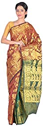 Sree Howrah Stores Women's Art Silk Saree with Blouse Piece (Magenta)