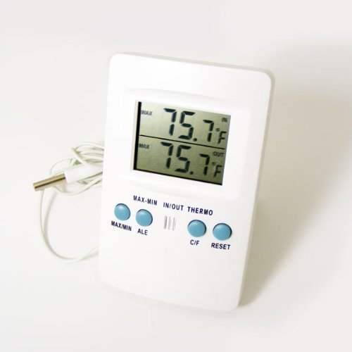 Genuine Zeal P1000 Digital Min / Max Thermometer Indoor / Outdoor For Greenhouse, Conservatory, or Home Use