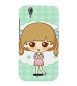 EPICCASE Excited Little Girl Mobile Back Case Cover For Acer Liquid Z630 (Designer Case)