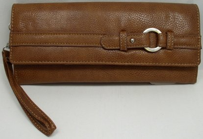 Mundi 3 For All Wristlet /Clutch /Pebble Rock Wallet ~ Cognac