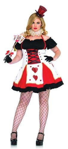 Alice In Wonderland Queen Of Hearts Sexy Plus Size Holiday Costume