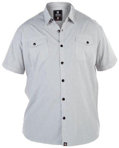 Duke Men's Fine Stripe Casual Short Sleeve Shirt 5XL