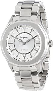 Salvatore Ferragamo Men's FQ1040013 Lungarno Stainless Steel Silver Sunray Dial Date Watch by Salvatore Ferragamo