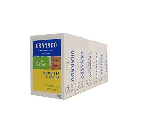 Linha Bebe Granado - Sabonete em Barra de Glicerina Tradicional (6 x 90 Gr) - (Granado Baby Collection - Classic Glycerin Bar Soap Net (6 x 3.2 Oz)) - 1